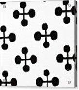 Black And White Pattern Fabric Acrylic Print