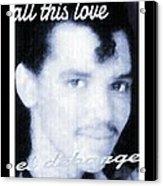 Black And White  Photo Of El Debarge Acrylic Print