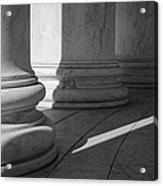Black And White Pillars Acrylic Print