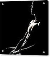 Black And White Profile Acrylic Print