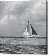 Black And White Sail Boat Acrylic Print