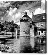 Scotney Castle In Mono Acrylic Print
