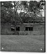 Black And White Shed Acrylic Print