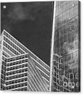 Black And White Skyscrapers Acrylic Print