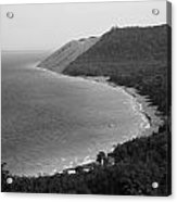 Black And White Sleeping Bear Dunes Acrylic Print