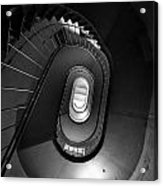 Black And White Spiral Staircaise Acrylic Print