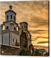 Black And White Sunrise Over Mission Acrylic Print