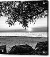 Black And White Sunset Acrylic Print