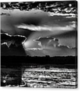 Black And White Sunset Over The Mead Wildlife Area Acrylic Print