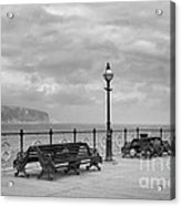 Black And White Swanage Pier Acrylic Print