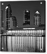 Black And White Tampa Night Acrylic Print