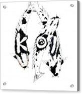 Black And White Trio Of Koi Acrylic Print