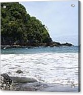 Black Beach Acrylic Print