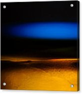 Black Blue Yellow Acrylic Print by Bob Orsillo