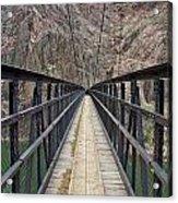 Black Bridge Acrylic Print