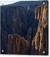 Black Canyon Into The Deep Hdr Acrylic Print