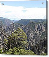 Black Canyon Of The Gunnison Panorama Acrylic Print