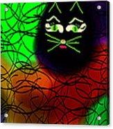 Black Cat Dreams Acrylic Print by Rosana Ortiz