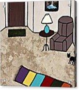 Essence Of Home - Black Cat Entering Living Room Acrylic Print