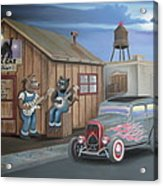 Black Cat Juke Joint Acrylic Print