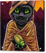 Black Cat Mummy Monster Acrylic Print