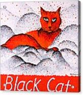 Black Cat Orange Acrylic Print
