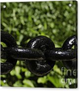 Black Chain Acrylic Print