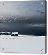 Black Clouds - White Snow Acrylic Print