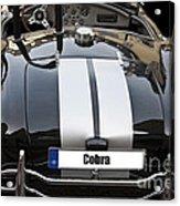 Black Cn Cobra Classic Car Acrylic Print
