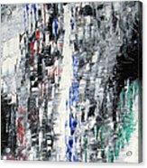 Black Crystal Cave - Black White Abstract By Chakramoon Acrylic Print