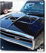 Black Dodge Charger Acrylic Print