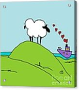 Black Faced Sheep 20150206 Acrylic Print