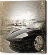 Black Ferrari Acrylic Print