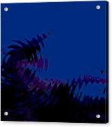 Black Gives Way To Blue Acrylic Print