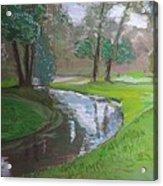 Black Hancza River Acrylic Print