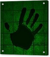 Black Hand Green Acrylic Print