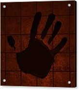 Black Hand Orange Acrylic Print