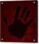 Black Hand Red Acrylic Print