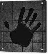 Black Hand Acrylic Print