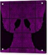 Black Hands Purple Acrylic Print