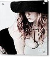Black Hat Acrylic Print