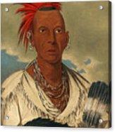 Black Hawk. Prominent Sauk Chief. Sauk And Fox Acrylic Print