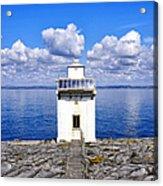 Black Head Lighthouse Acrylic Print