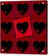 Black Hearts Acrylic Print