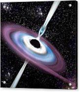 Black Hole 1a Acrylic Print by Marc Ward