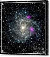 Black Holes In Spiral Galaxy Nasa Acrylic Print by Rose Santuci-Sofranko