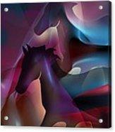 Black Horses Acrylic Print