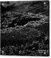 Black Ice Abstract Acrylic Print