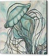 Black Lung Green Jellyfish Acrylic Print by Tamara Phillips