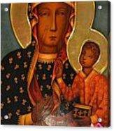 Black Madonna Of Czestochowa Acrylic Print